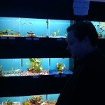 Will Nesbitt looks at the fish