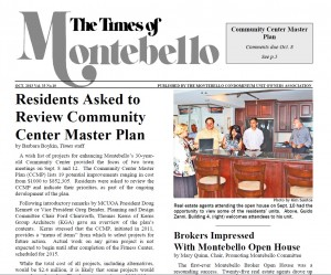 Will Nesbitt, Julie Nesbitt, and Stuart Nesbitt appear in the Montebello news letter