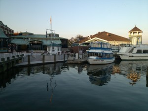 Old Town Alexandria has water taxi's to Washington DC