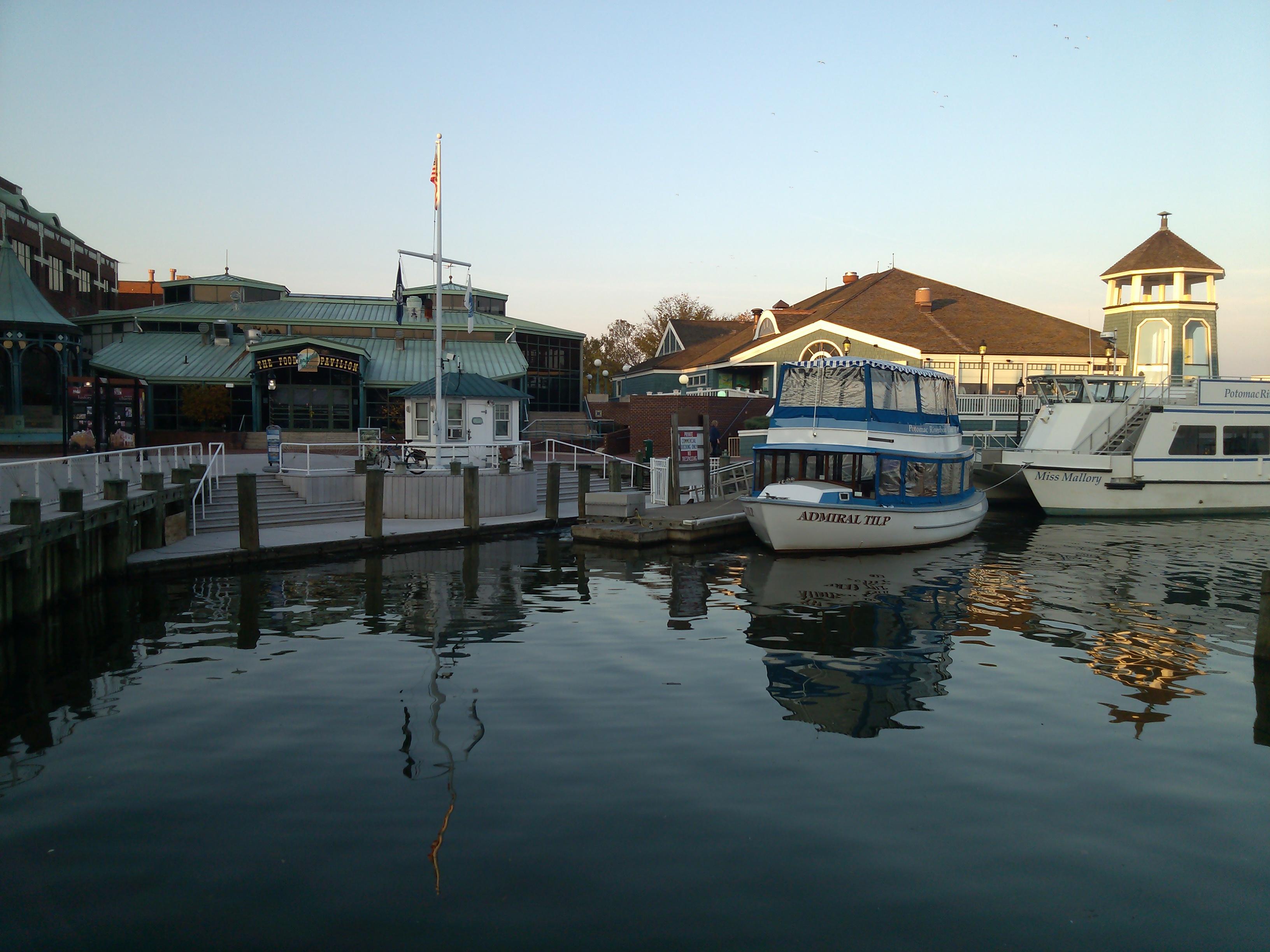 Old Town Alexandria has water taxi's to Washington DC