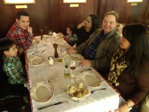 The Nesbitt's enjoy a family meal at Tysons II