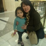 Grandma and granddaughter, after enjoying a family meal at Tysons II