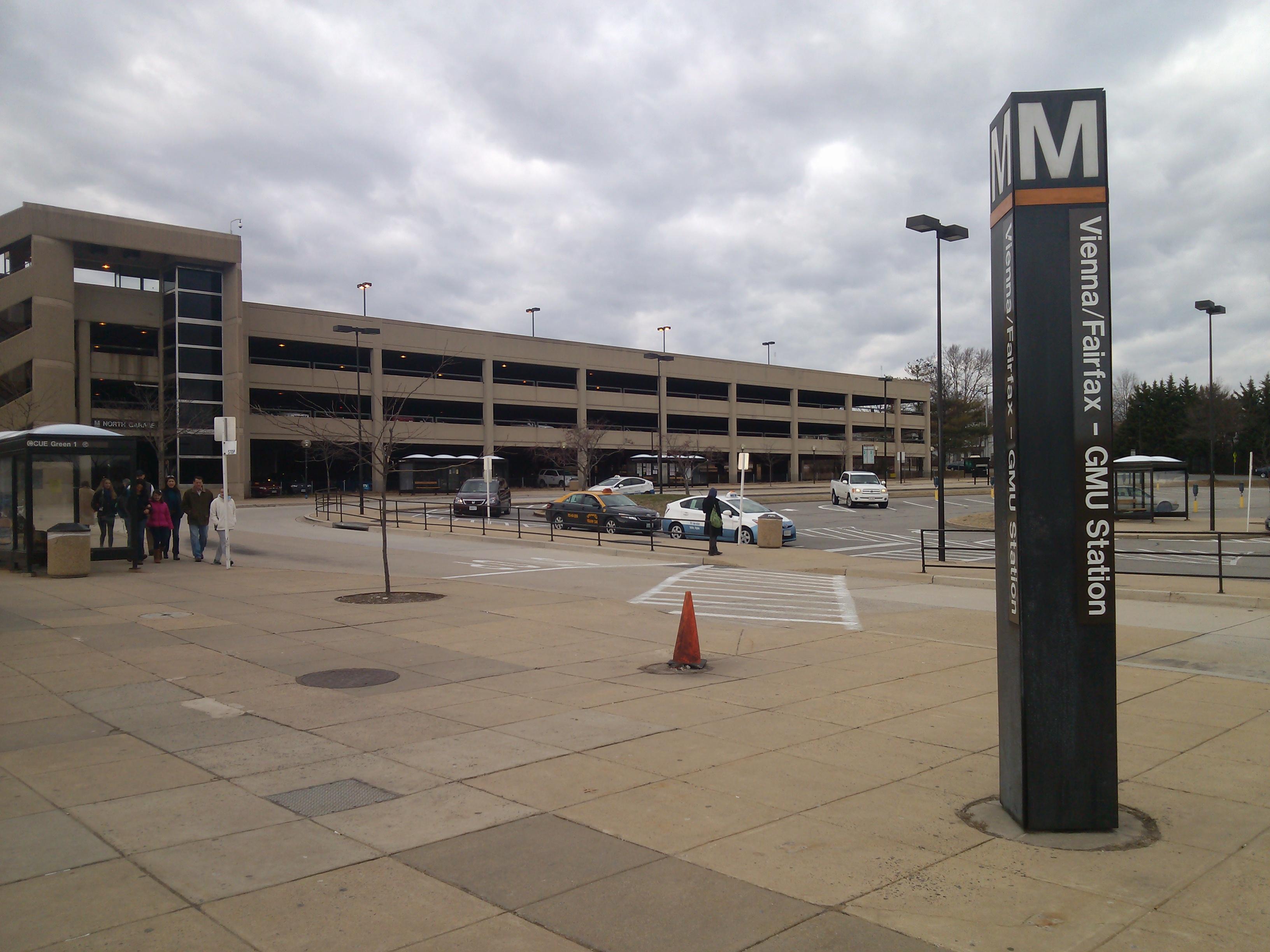 Image result for parking garage gmu station vienna virginia
