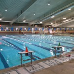 The pool at the RECenter is less crowded during the winter than the summer