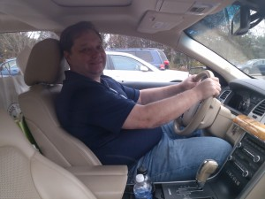 Parked, taking a break on a road trip