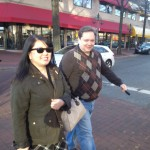 Will and Julie Nesbitt cross the street in Shirlington
