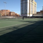 Old Town North has pick up tennis games at Montgomery Park