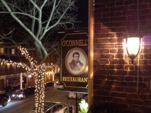 O'Connell's is a popular restaurant in Old Town Alexandria