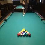 Aubrey gets ready to break at Fast Eddie's in Springfield