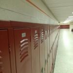 Lockers line the halls at Oakton High School