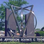 A statue at Thomas Jefferson High School
