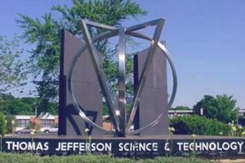 A statue at Thomas Jefferson High School