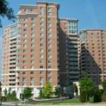 High-rise brick condominium
