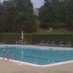 A pool in the summer time