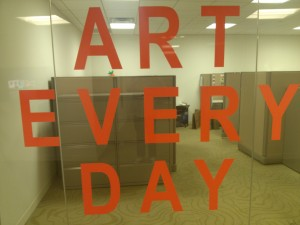 Outside an office at the Artisphere