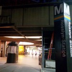 Rosslyn Metro station connects to the Blue & Orange line