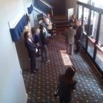 Volunteers greeted incoming audience members