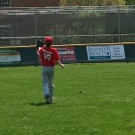 Getting ready in the outfield