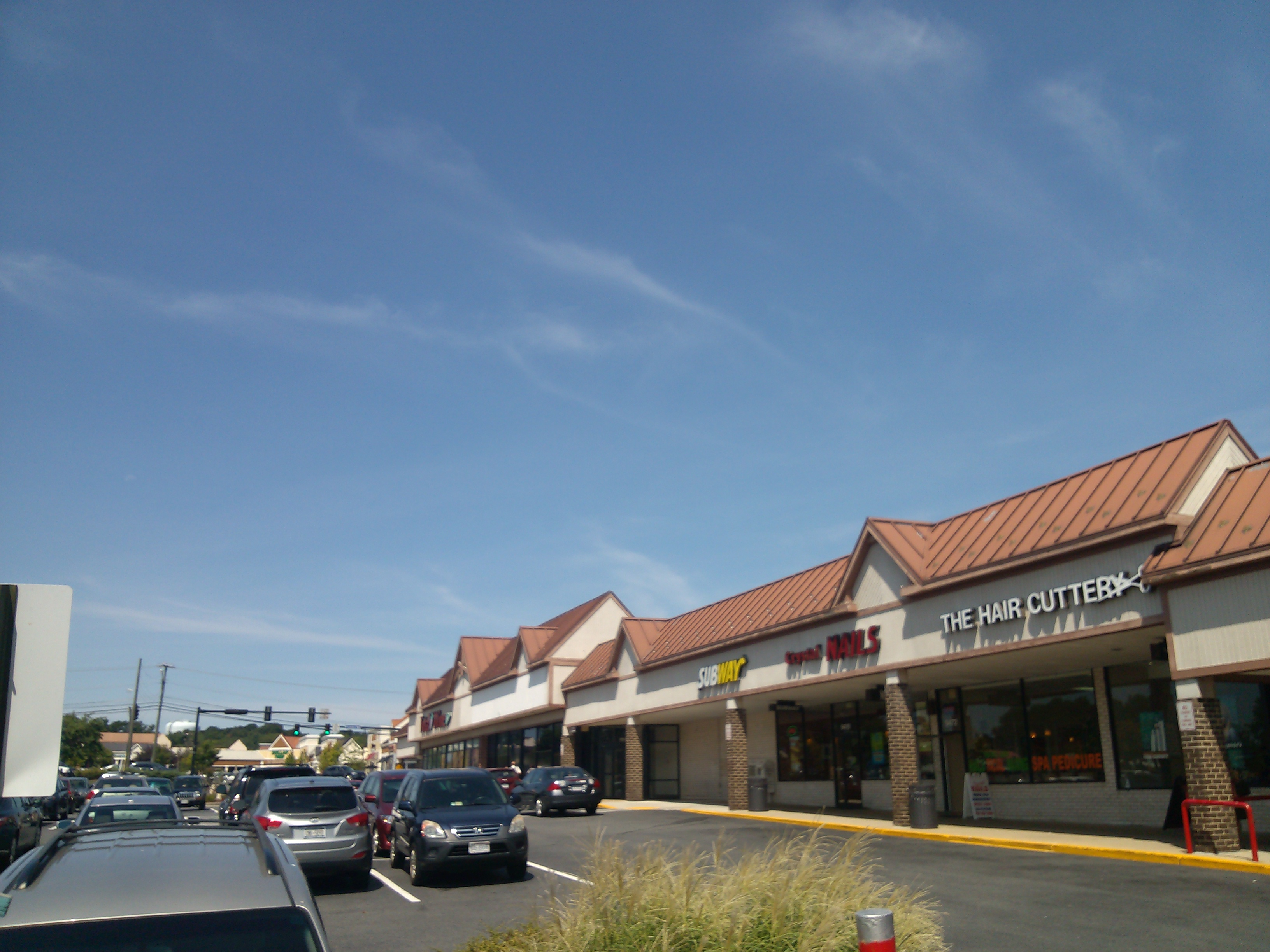 This shopping center is after NOVA Annandale Campus and before the Court House