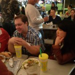 Lively company during Oktoberfest