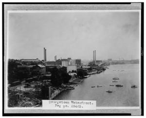 Georgetown waterfront 1932