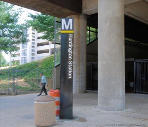 Entrance to Huntington Metro