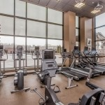 Ellipticals and treadmills at the Midtown gym