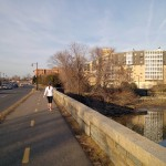 The Mount Vernon Trail is frequented by joggers