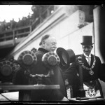1923 - Chief Justice Wm. Howard Taft at the cornerstone laying of the Geo. Washington Memorial at Alex. Va