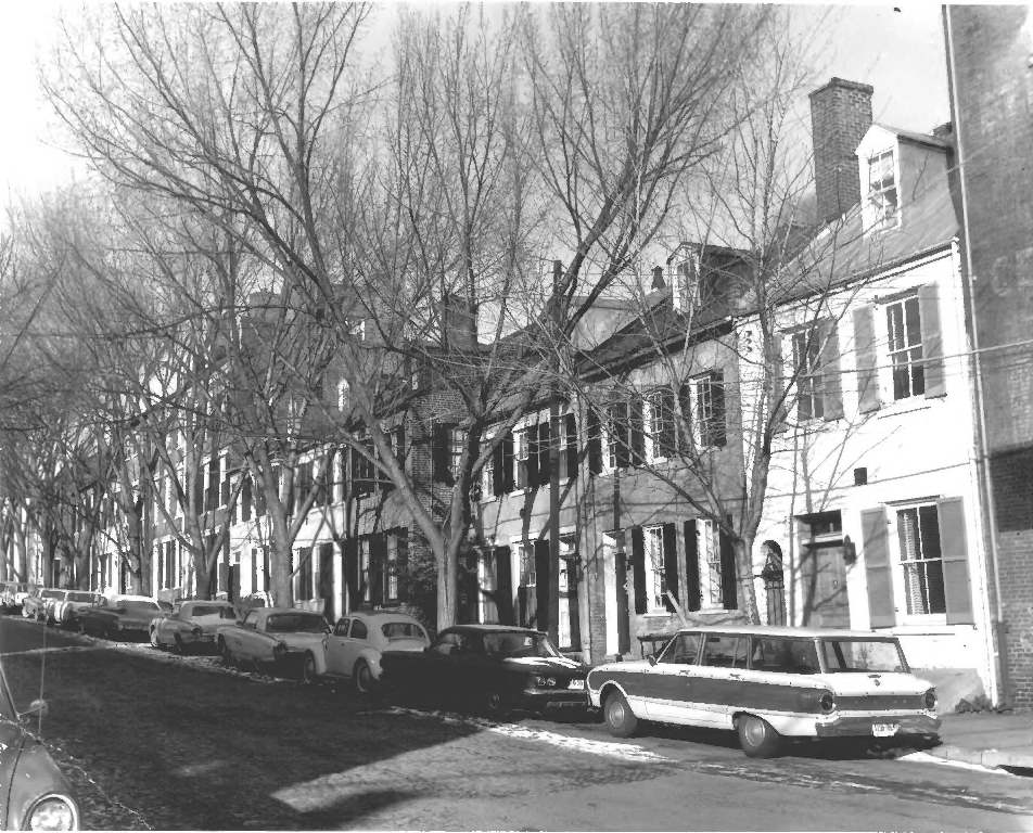 Captain's Row in Alexandria 1963