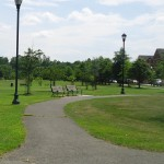 Ben Brenman Park has several paved walk ways