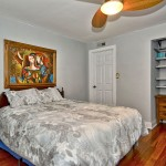 The master bedroom with a storage space