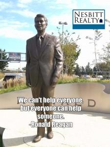 A statue of Ronald Reagan