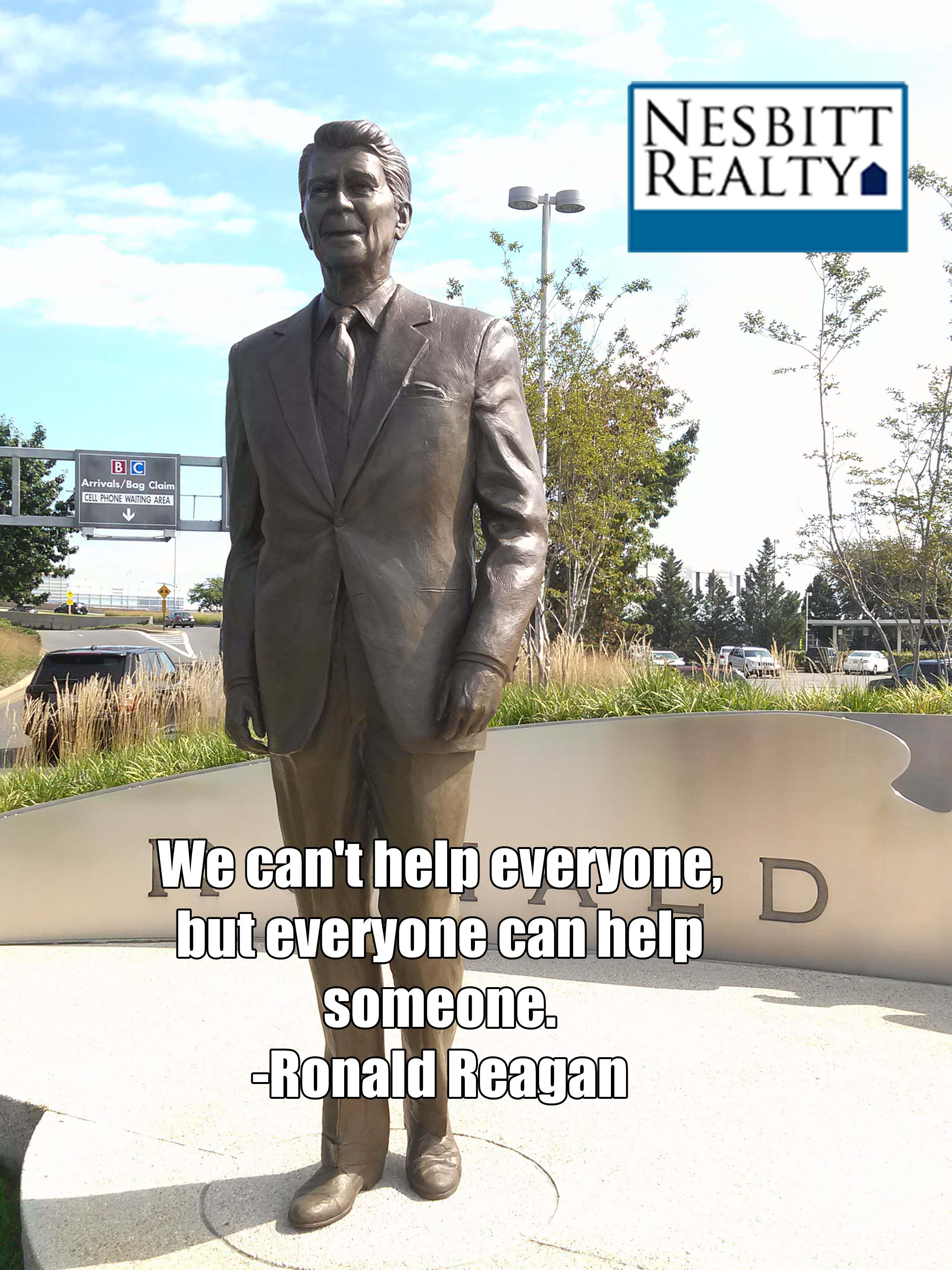 A statue of Ronald Reagan