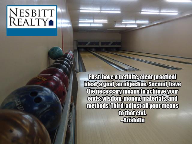 Underground bowling alley