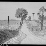 Dirt road and fence through farmland in Fairfax County, Virginia1930