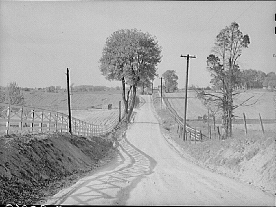 Fairfax County farmland, in 1930