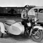 Fairfax County motorcycle cop, in the 1940s