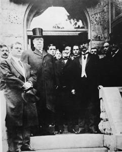 William Howard Taft in front of Congressman Charles Carlin's home at 211 North Washington Street, Alexandria,Va.1910