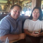 Husband and wife at Waterman's at Virginia Beach