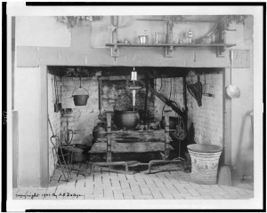 Fireplace in the kitchen at Mt. Vernon 1903