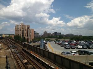 Undergoing construction on the Huntington skyline