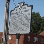 Black historical plaque