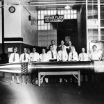 The final torpedo made at the Naval Torpedo Station, Alexandria, 1945.