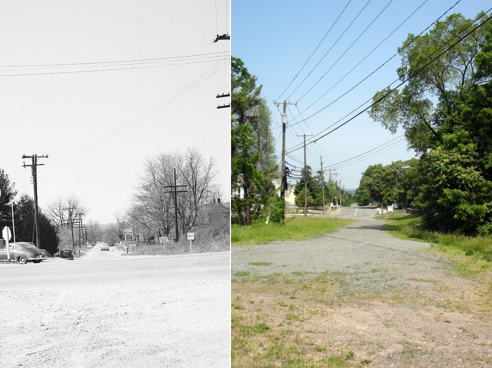 Centreville Braddock Road then 1955 and now