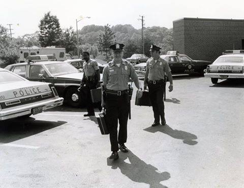 McLean Patrol officers heading for the street, c. 1979