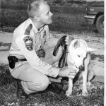 Fairfax County's very first K-9 team from the early 1960s