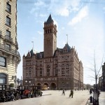 The Old Post Office, 1910. The second tallest structure in Washington, DC. Colorized