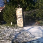 gated home in Belle Haven after snow drizzle