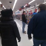 Julie Nesbitt and Will Nesbitt in Wal-Mart